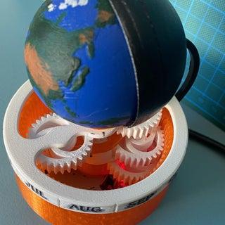 3D Printed Earth Clock