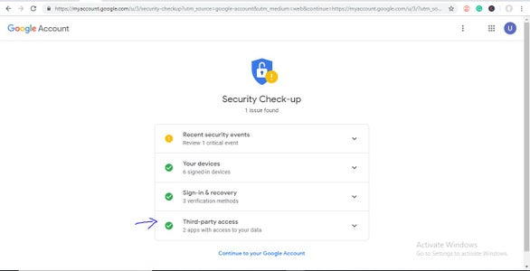"""If You See No Emails Are Sending or """"sending Failed"""",Go to Google Account and You'll See """"security Issue Find""""."""