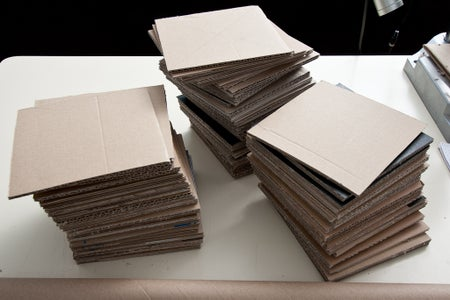 Fourth Step : Collecting and Cutting the Cardboard