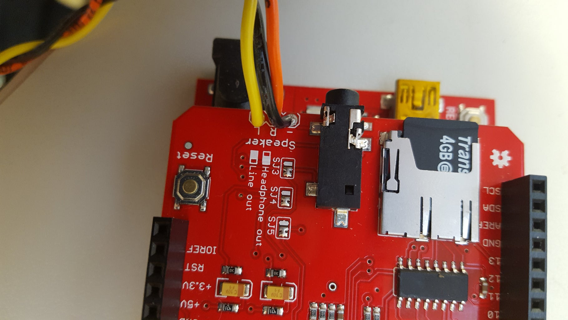 Solder Components to the MP3 and Proto Shields