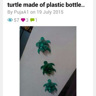 Turtle Made of Plastic Bottle..
