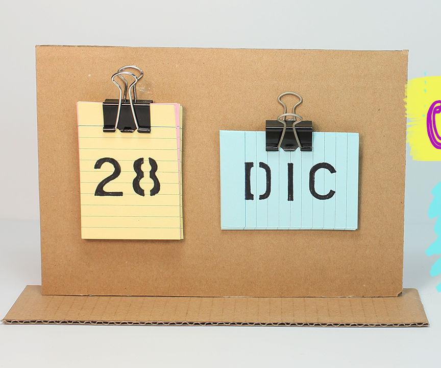 How to make a Desk Calendar