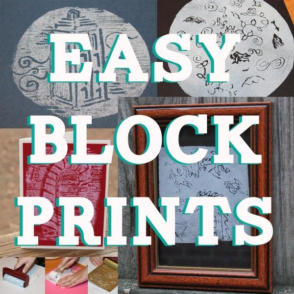 Easy Lino Block Prints for Kids Using Styrofoam!