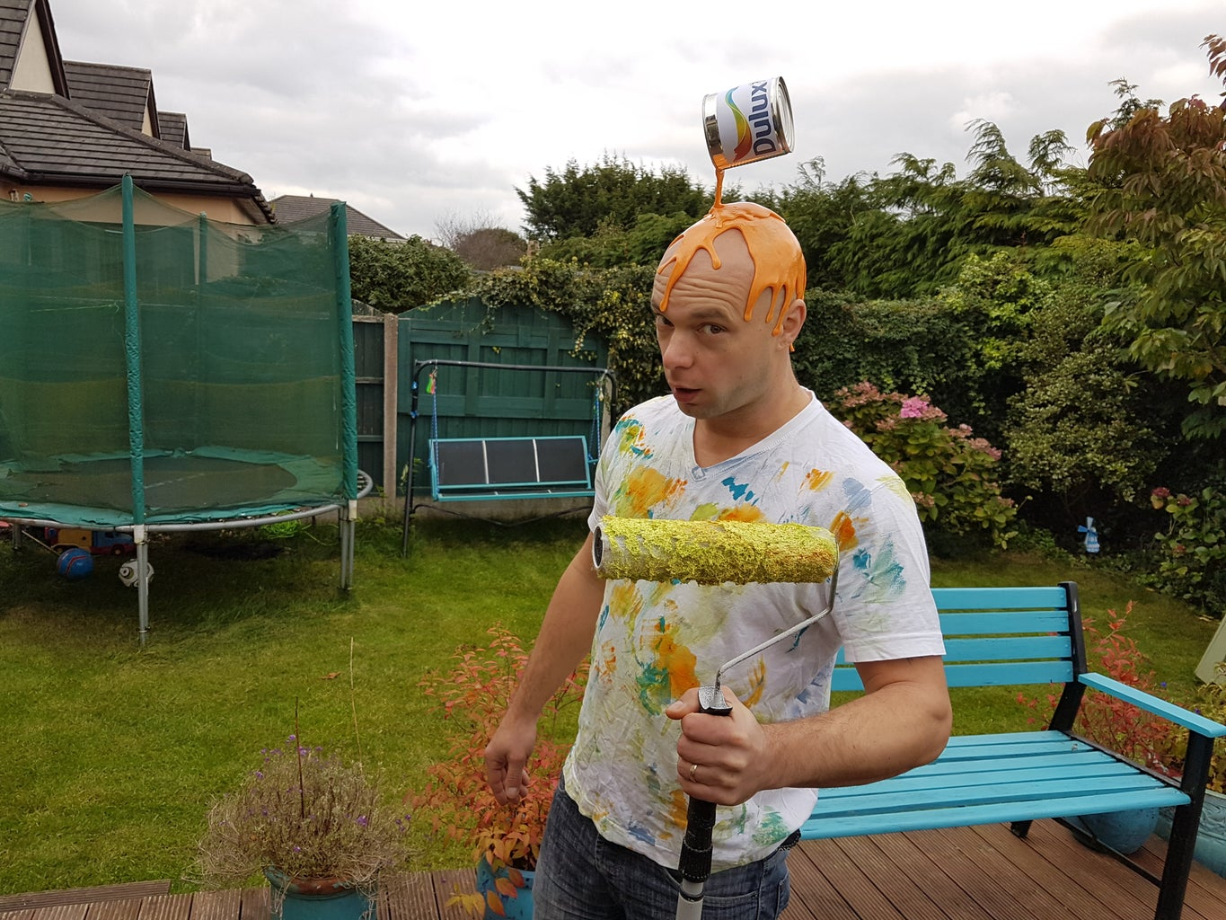 Clumsy House Decorator Costume.