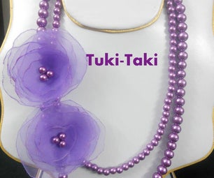 Purple Flower Necklace(very Easy to Make)