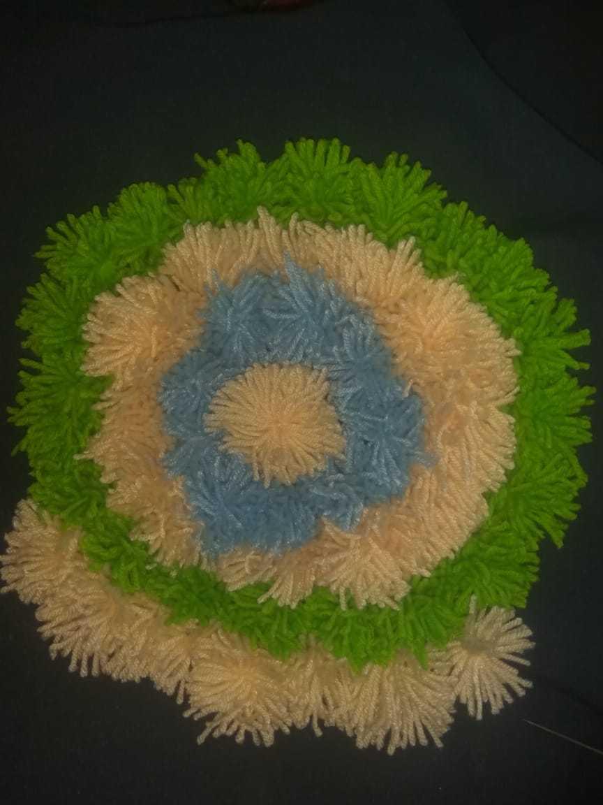Stitching Pom Balls to Fabric