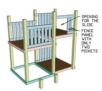 Fence Panel for Slide Area