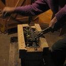 Quick made hand cranked compost shredder