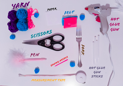 Fluffy Pom-Pom Bookmark