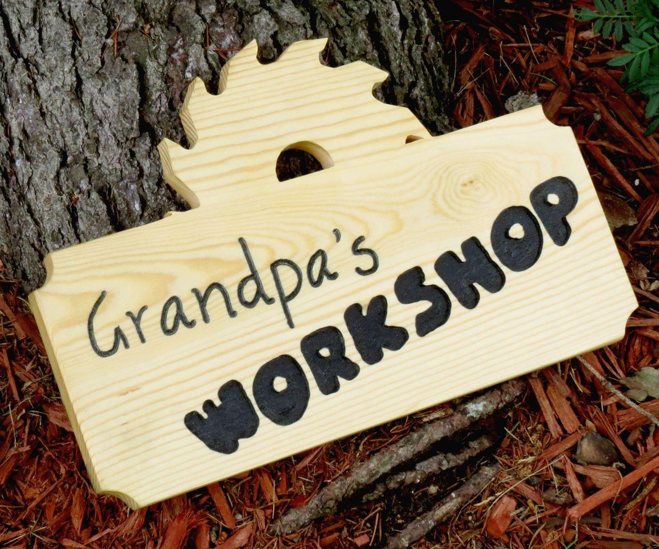 Grandpa's Workshop Wood Sign