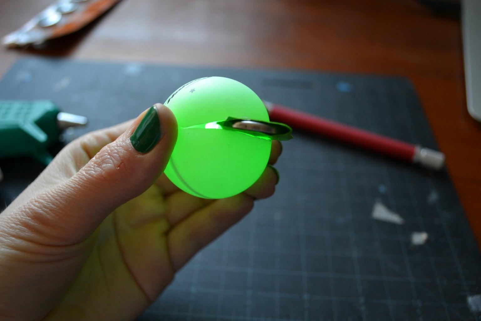 Insert the LED/battery