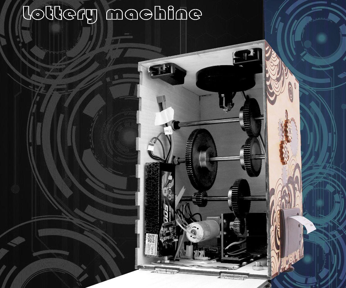 A steam punk style lottery machine