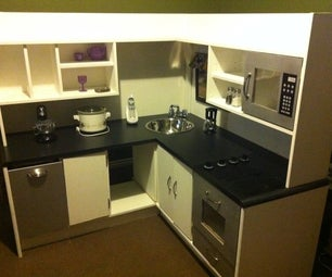 Handmade Kids Wood Kitchen for Under $100