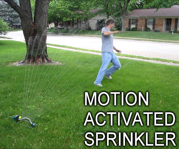 Keep Unwanted Visitors Away With a Motion Activated Sprinkler