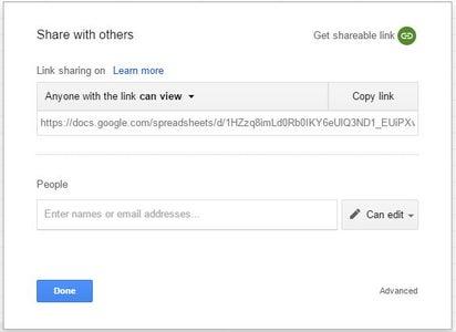 Make Your Google Spreadsheet Shared
