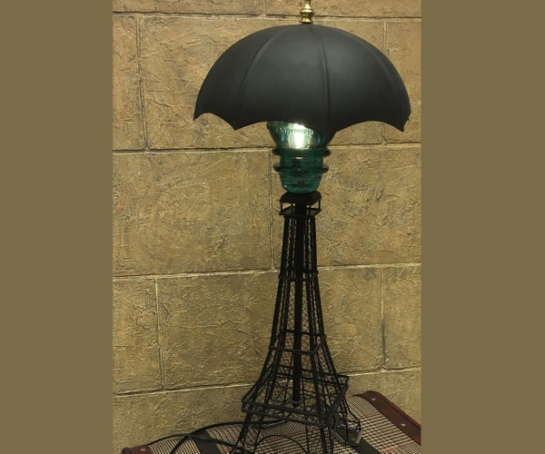 Upcycled Steampunk-Inspired Lamp