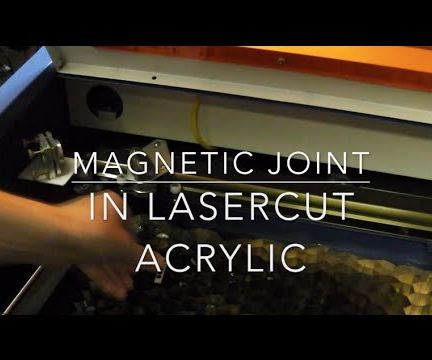 No-glue Magnetic Joint or Box Lid Catch in Lasercut Sheet
