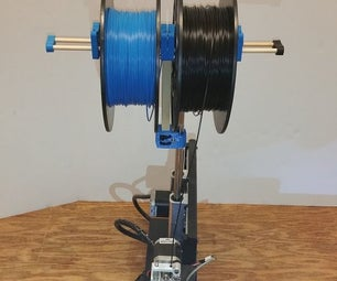 3D Printing Dual Spool Holder for Printbot Simple