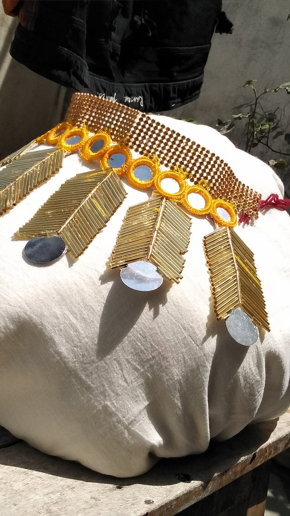 Make a Bohemian Necklace From Upcycled Materials