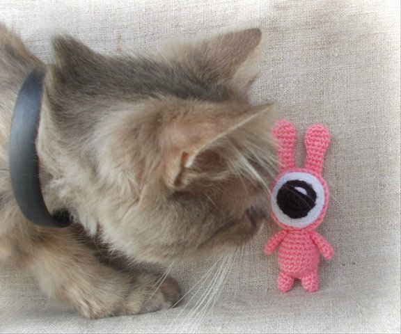 Crochet toy Pinky from the movie