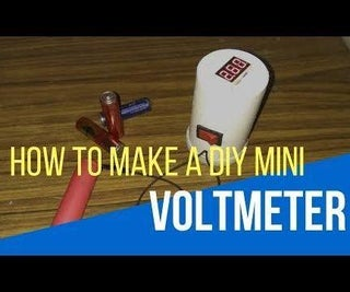 How to Make a Digital Voltmeter - DIY a Mini Voltmeter