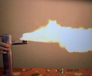 Easiest Flamethrower: Using Household Supplies
