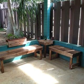 DIY Outdoor Wood Bench