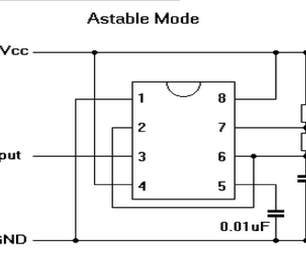 555 Timer in ASTABLE Mode - a Tutorial With Theory, Schematic, & Lab Sections