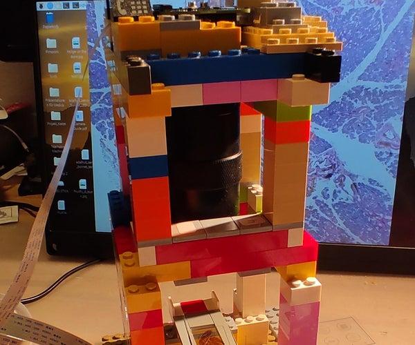 Raspberry Pi HQ Camera Microscope - a Minimalist LEGO Version