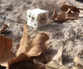 Carving Dice (when in Hiding From Hangliding Cows)