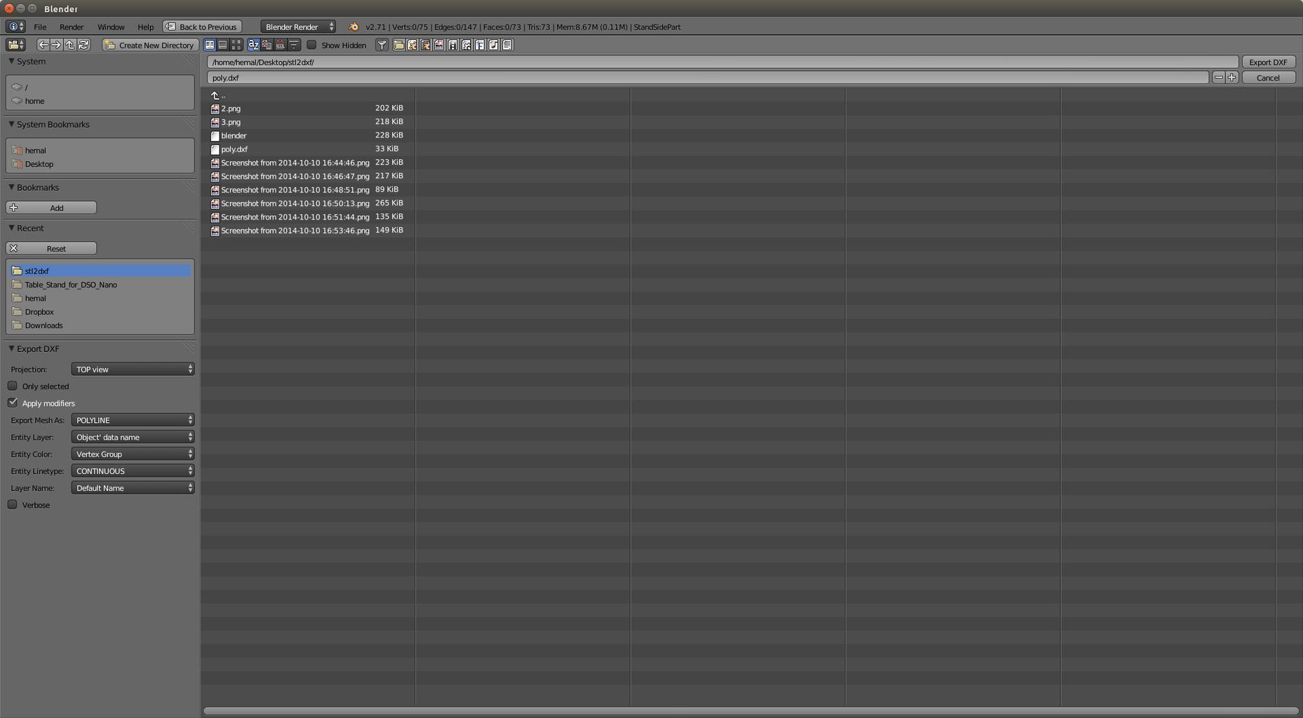 Import File in Blender