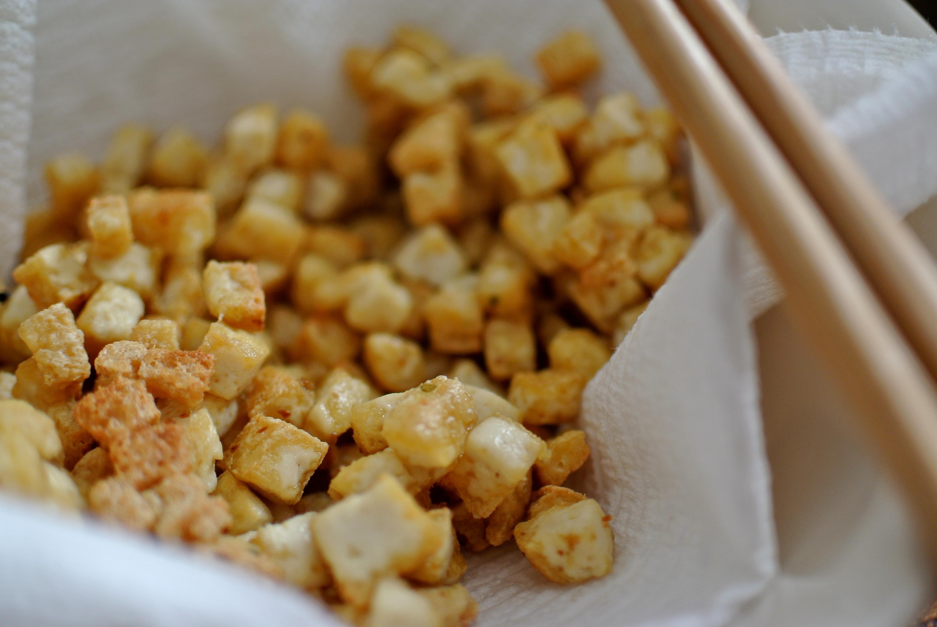 Fried Tofu Cubes
