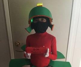 "DIY Kids ""Marvin the Martian"" Costume"