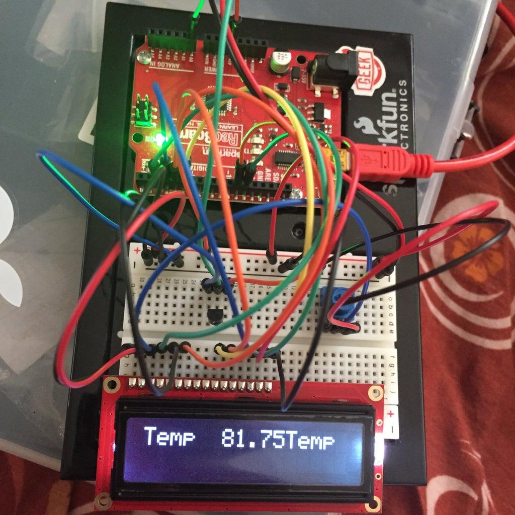 Temp. Sensor Display on LCD W/ Arduino