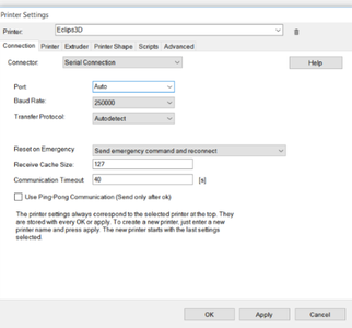 Configuring Repetier Host