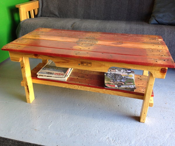 Nice Pallet Coffee Table