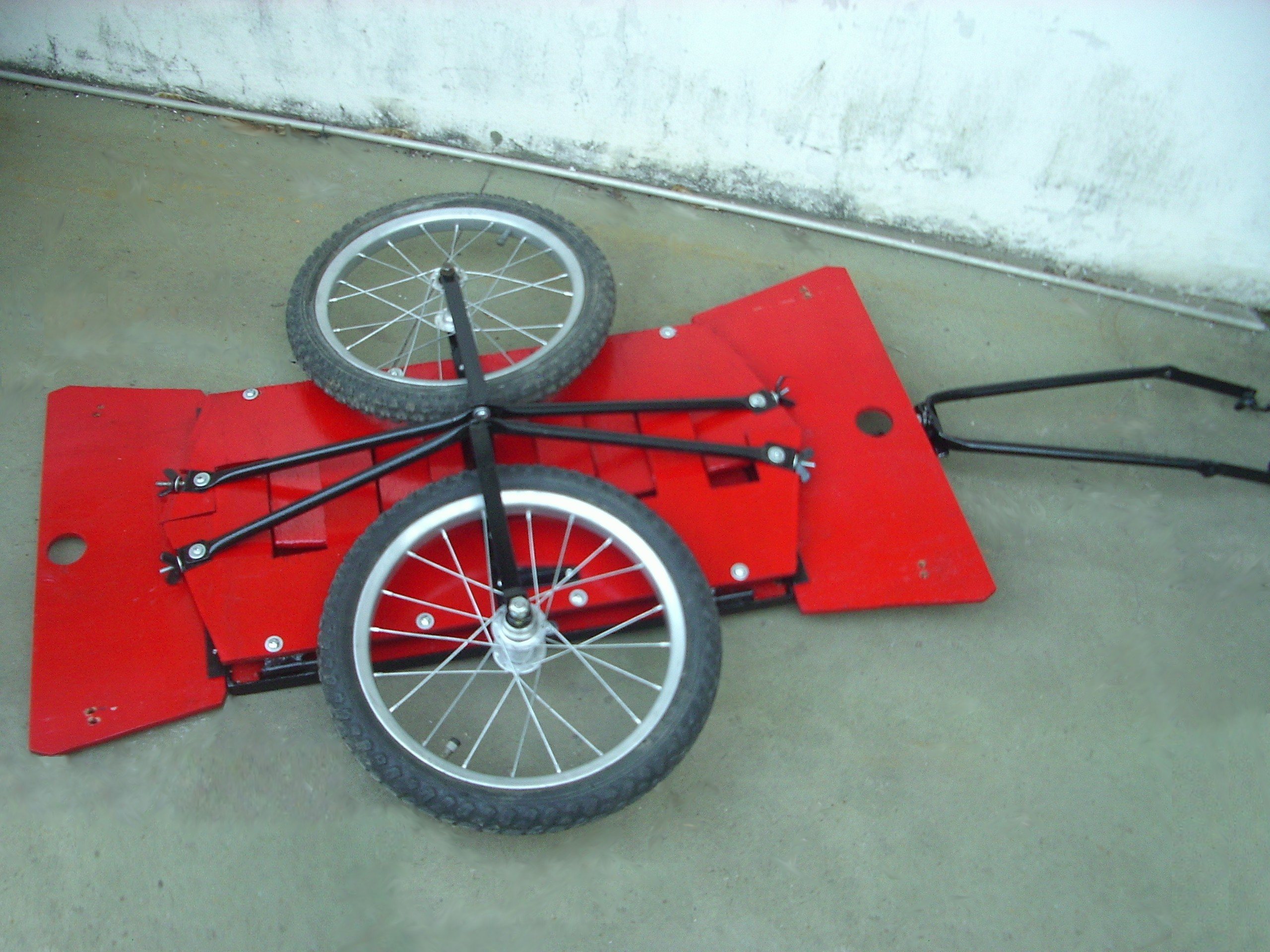 Foldable bike cart (carrito plegable para bici)