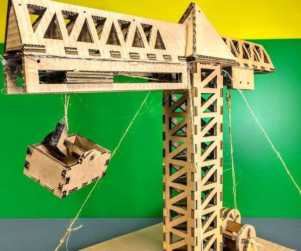 Cardboard Crane