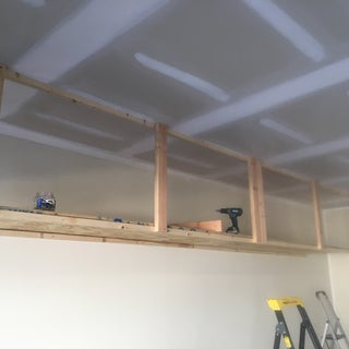 Wasted Space: High Garage Storage Shelves