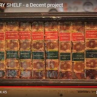 Secret Library Shelf - the Book Spines Slide Away to Reveal Hidden Storage!