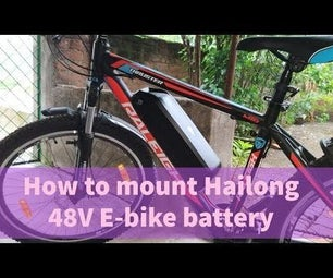 How to Mount E-bike Battery in Bike Frame