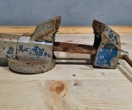 陈旧生锈的虎钳修复