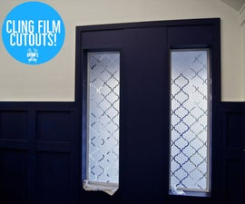 CNC Cling Film Cutouts for a Privacy Window!
