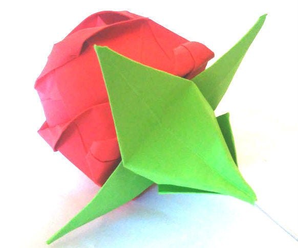 Origami Calyx for an Origami Rose
