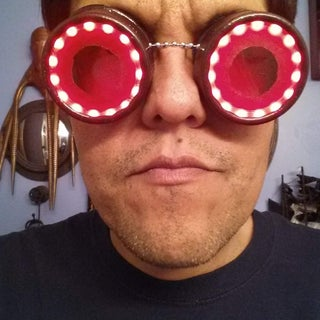 Steampunk Goggle Lights