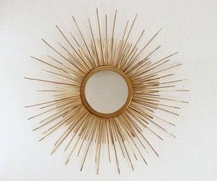 Mid Century Sunburst Mirror