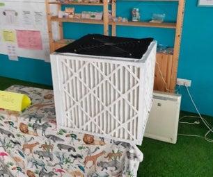 Air Ventilator & Filter for Classrooms - a Low Cost HEPA Alternative