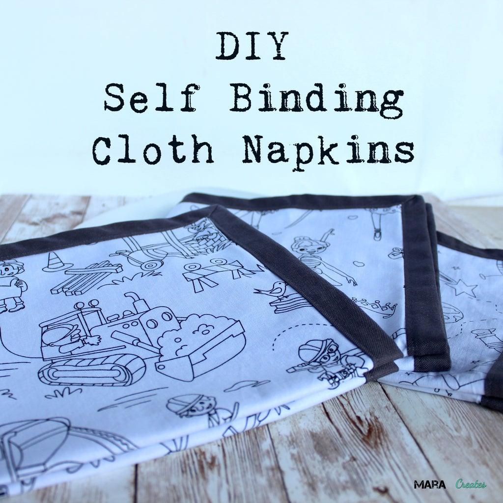DIY Self Binding Cloth Napkins