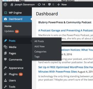 Open Blog Post Area