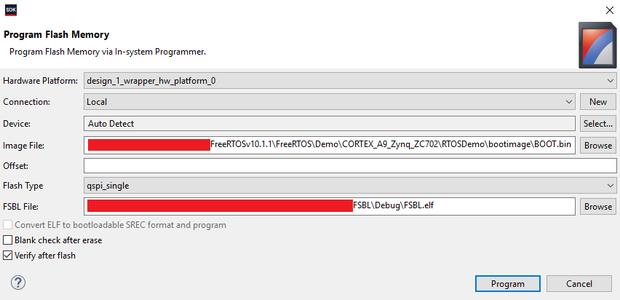 Flash Firmware to QSPI